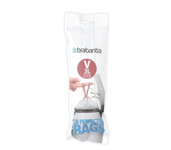 BRABANTIA Σακούλες Απορριμάτων PerfectFit 3lt -V (20τεμ) - 080.1165/82