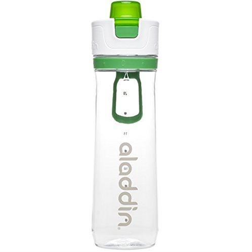 Aladdin Παγούρι 0.8lt Πράσινο-Διάφανο Active Hydration Tracker