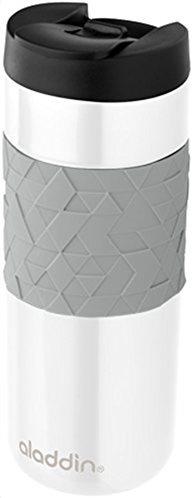 Aladdin Ανοξείδωτη Θερμομονωτική Κούπα Easy Grip Leak Lock Λευκή 0.47lt