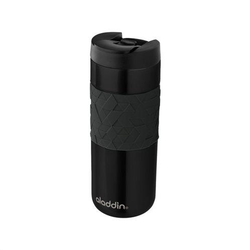 Aladdin Κούπα Θερμομονωτική Ανοξείδωτη Μαύρη Easy Grip Leak Lock 0.47lt