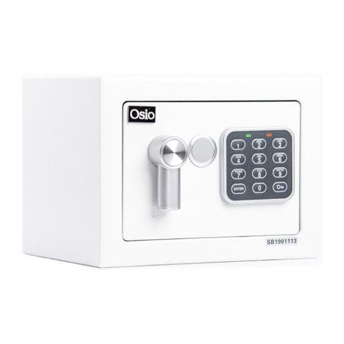 Osio OSB-1723WH Χρηματοκιβώτιο με ηλεκτρονική κλειδαριά 23 x 17 x 17 cm