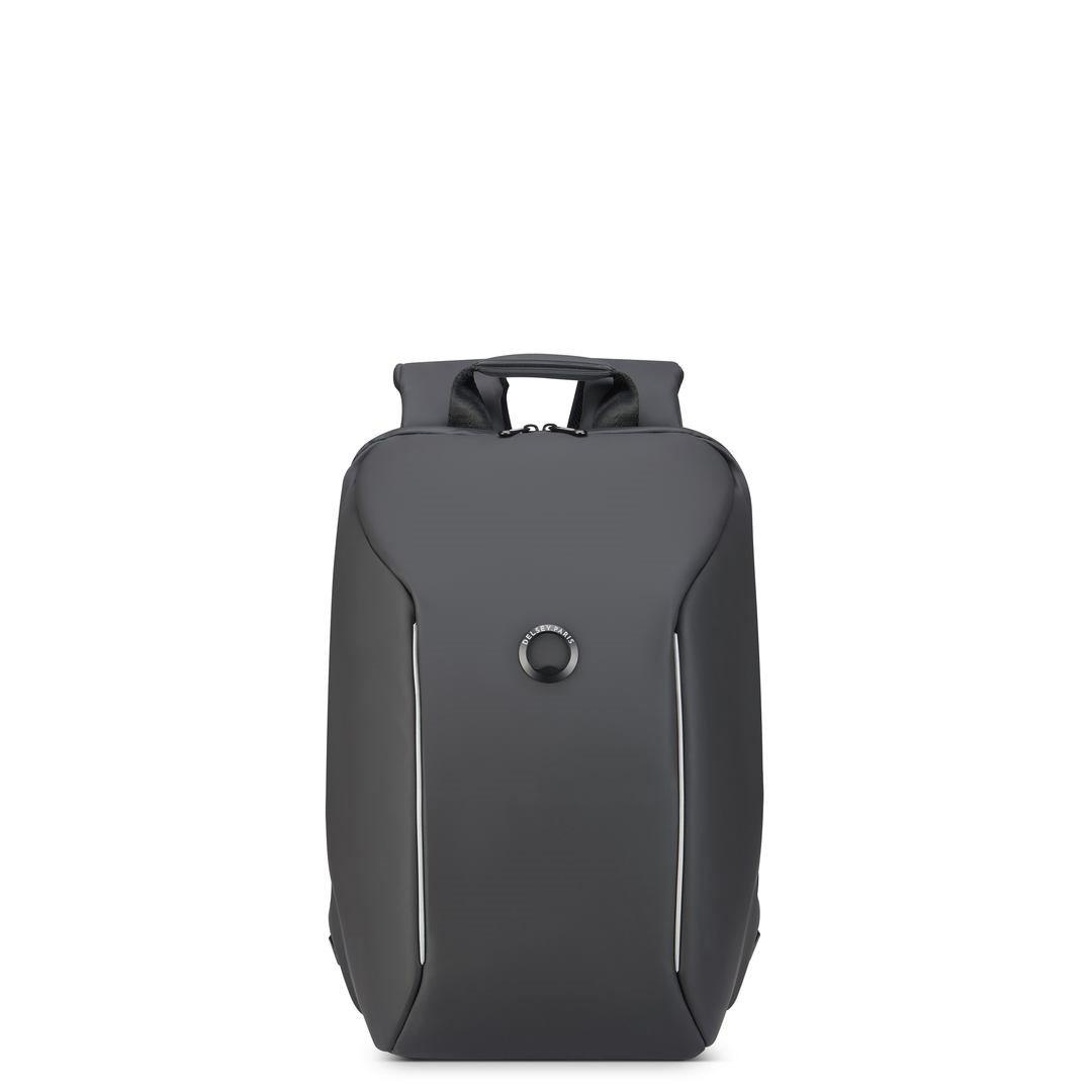 Delsey Σακίδιο πλάτης με θέση PC 14  44,5x29,5x16,5cm σειρά Securain Μαύρο