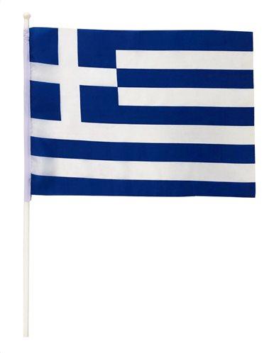 Σημαία Ελληνική με κοντάρι 40x30εκ