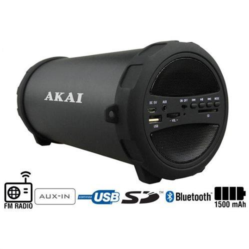 Akai Φορητό Hχείο Bluetooth Mε Rαδιόφωνο USB Aux-In Kαι Kάρτα SD ABTS-11B 10 W