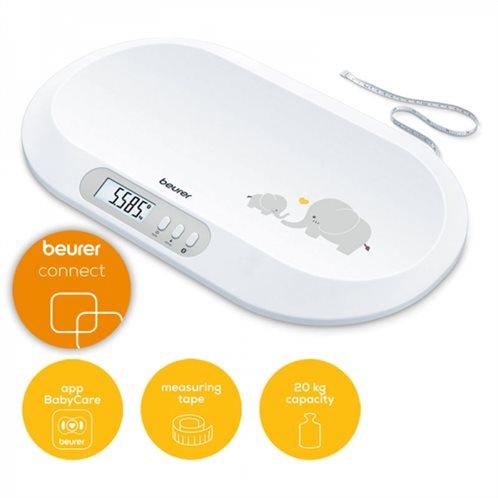 Beurer Ψηφιακός Βρεφοζυγός BY 90 με Bluetooth και Ενσωματωμένη Ταινία Μέτρησης Ύψους
