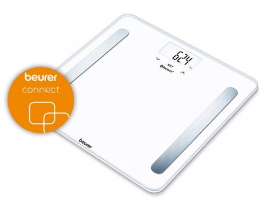 Beurer Ψηφιακή Ζυγαριά με Λιπομετρητή & Bluetooth BF 600 Λευκή με 30 Μνήμες 180kg