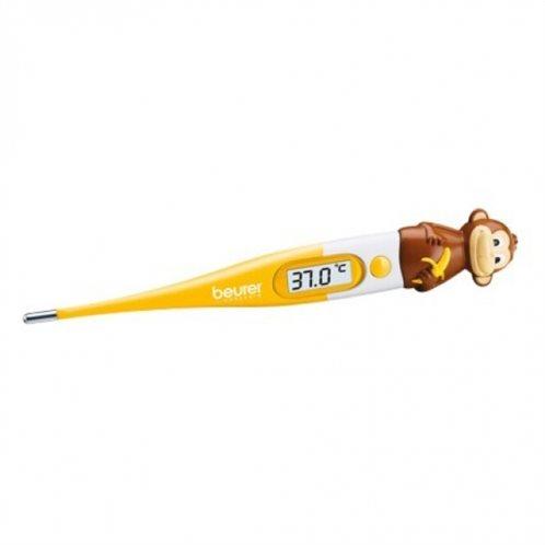 Beurer Ψηφιακό Θερμόμετρο Μασχάλης BY 11 Μπαταρίας Κατάλληλο για Μωρά Κίτρινο με Μαϊμού