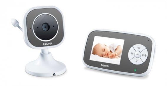 Beurer Ενδοεπικοινωνία Μωρού με Κάμερα LCD 2.8 και Ήχο 300m Εμβέλεια BY 110 με Συναγερμό Θερμοκρασίας