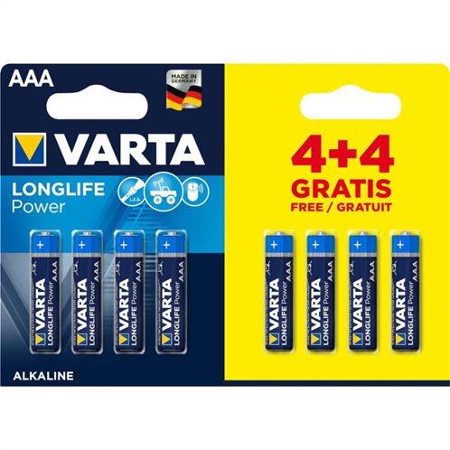 VARTA LONGLIFE POWER AAA 4+4pcs