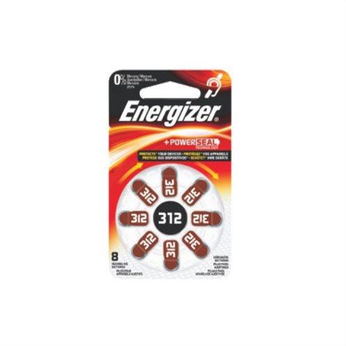 Energizer Μπαταρίες Ακουστικών Βαρηκοΐας 312 1.4V 8τμχ