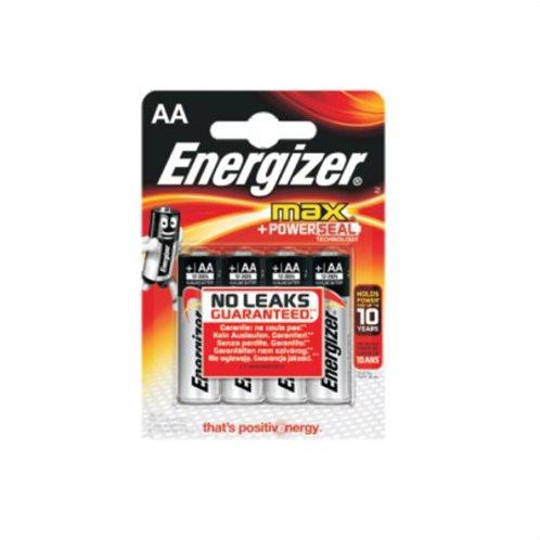 Energizer Αλκαλικές Μπαταρίες AA 1.5V Max 4τμχ
