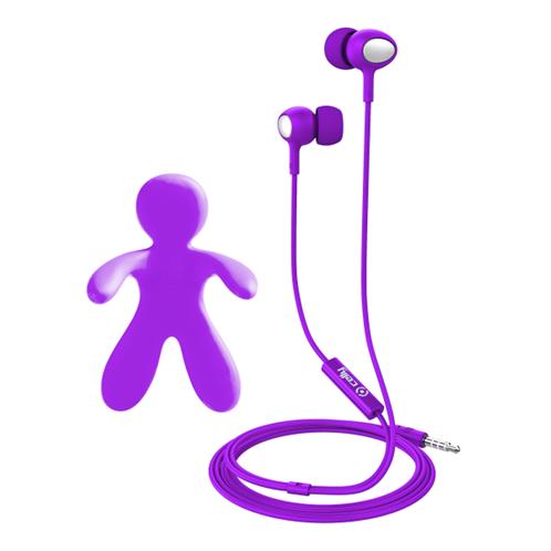 Celly Car Freshner Bundle & Stereo Earphones Purple