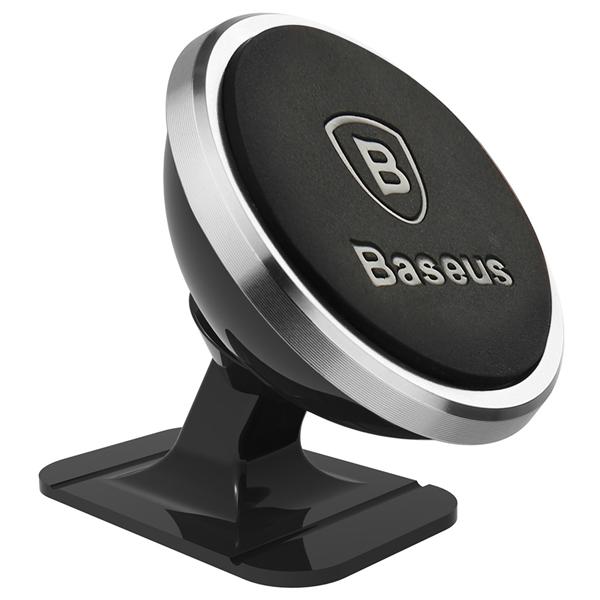 Baseus Rotation Magnetic Mount Car Holder Silver