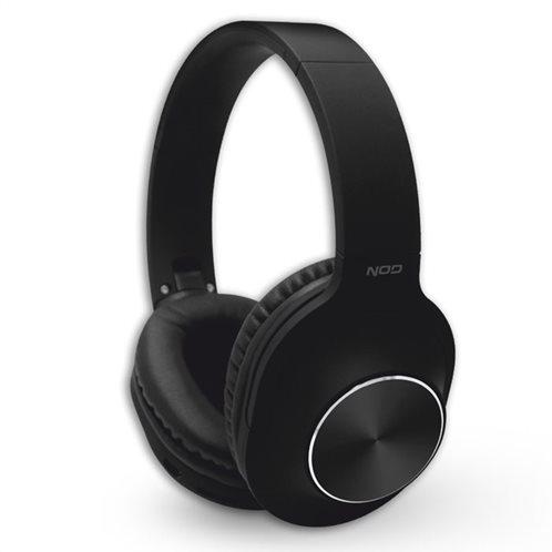 NOD Bluetooth over-ear ακουστικά με μικρόφωνο, σε μαύρο χρώμα, PLAYLIST BLACK