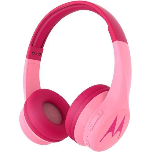Motorola SQUADS 300 Pink Ενσύρματα/Ασύρματα Bluetooth on ear παιδικά ακουστικά HandsFree με splitter