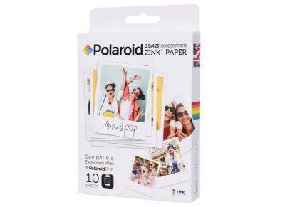"Polaroid POP ZINK Χαρτί Φωτογραφικό 3""x4"" 10 φύλλα"