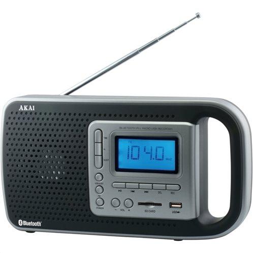 Akai PR005A-420B Φορητό ψηφιακό ραδιόφωνο με Bluetooth, USB και SD