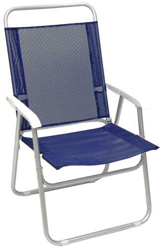 Campus πολυθρόνα αλουμινίου μπλε text με μπράτσα