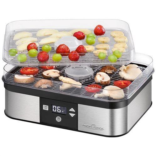 PROFI COOK Ανοξείδωτος αποξηραντής τροφίμων, με οθόνη LCD, 350W, PC-DR 1116