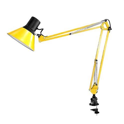 ΦΟS_ME πορτατίφ γραφείου-σχεδιαστηρίου με μέγγενη στήριξης κίτρινο Ε27