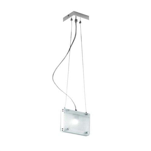 Fos_Me Κρεμαστό Φωτιστικό Οροφής box lite μονόφωτο 17-04002 σατιν με οπαλ γυαλί G9