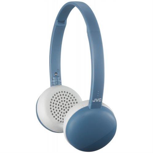 JVC Επίπεδα Ασύρματα Aκουστικά με Bluetooth με 3 κουμπιά και Mic (Μπλε)