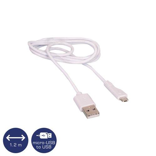 Osio OTU-395 Λευκό Καλώδιο USB σε micro USB 1.2 m