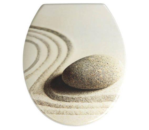 Wenko Καπάκι Λεκάνης από Βακελίτη 45x37.5cm Sand Stone 19651100