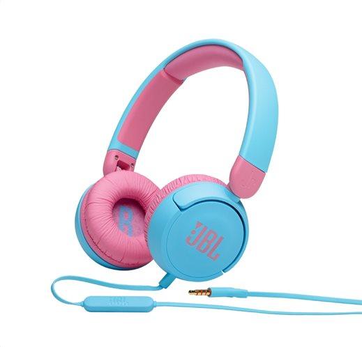 JBL JR310, On-Ear Headphones for Kids, Universal (Blue)