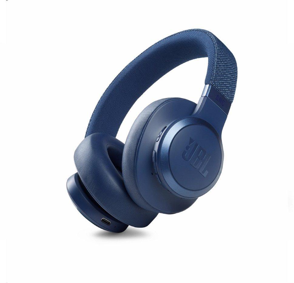 JBL Live 660NC, Over-Ear Bluetooth Headphones, Adaptive Noise Cancelling, (Blue)