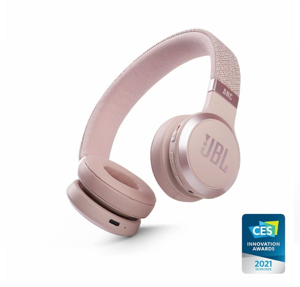 JBL Live 460NC, On-Ear Bluetooth Headphones, Adaptive Noise Cancelling, (Rose)