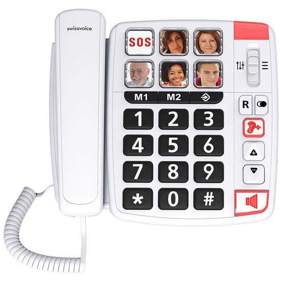 SWISSVOICE Τηλέφωνο Επιτραπέζιο Xtra 1110 Λευκό