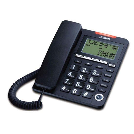 UNIDEN Τηλέφωνο Επιτραπέζιο με οθόνη AS7408 Μαύρο