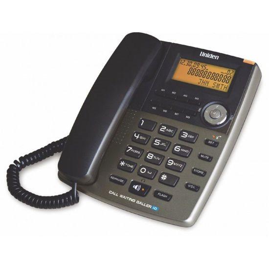 UNIDEN Τηλέφωνο Επιτραπέζιο με οθόνη AS7403 Τιτάνιο