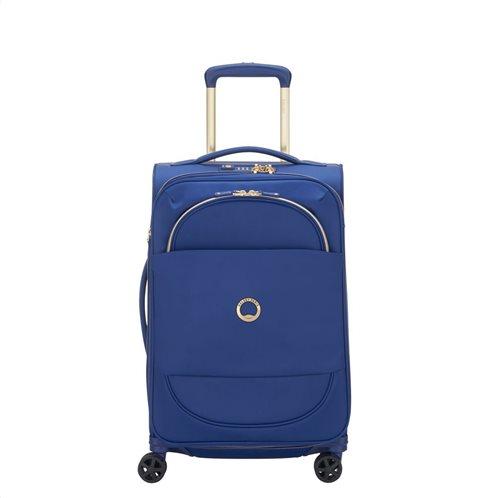 Delsey Βαλίτσα καμπίνας trolley expandable 55x35x25/28cm σειρά Montrouge Blue