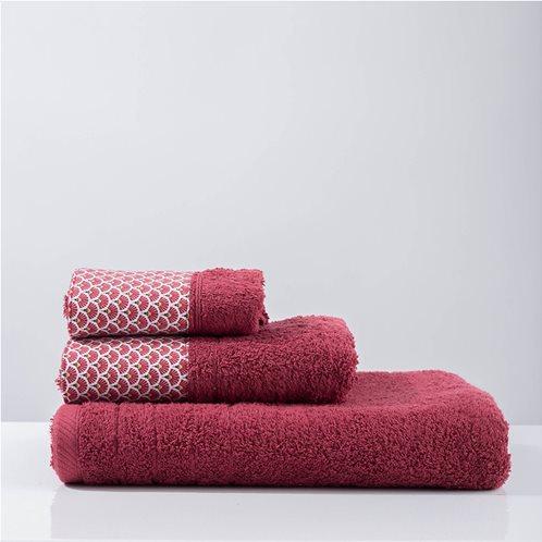 White Fabric Πετσέτα Rani Μωβ Προσώπου