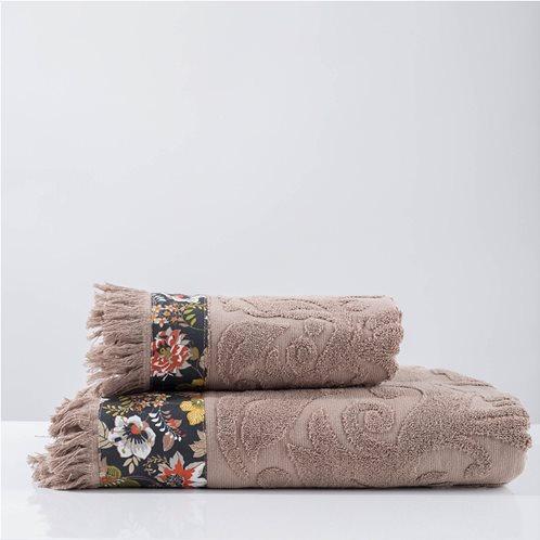 White Fabric Πετσέτα Airy Μπεζ Προσώπου