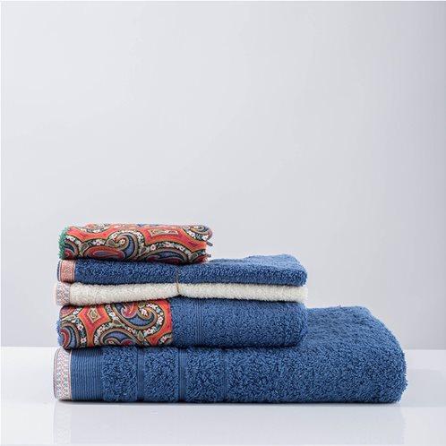 White Fabric Πετσέτα Layne Μπλε Χειρός