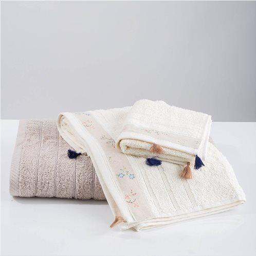 White Fabric Πετσέτα Annie Εκρου Χειρός