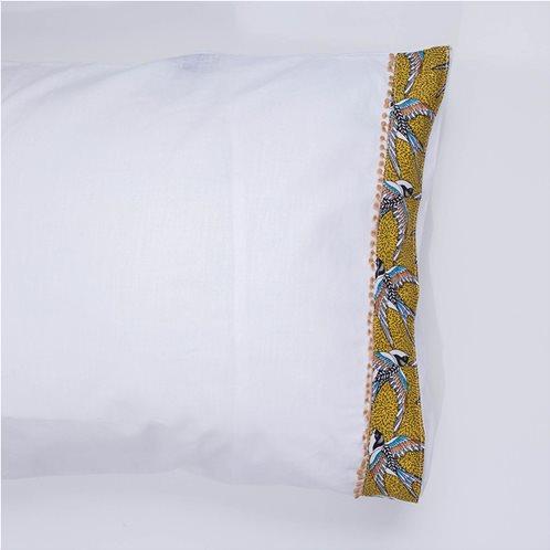 White Fabric Σετ Μαξιλαροθήκες Swallow Λευκές