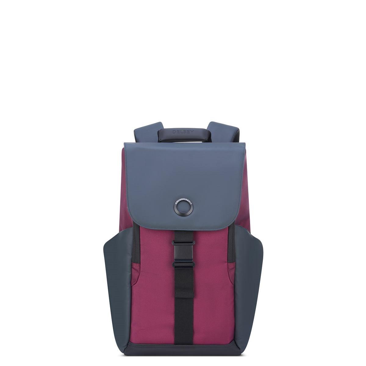 Delsey Σακίδιο πλάτης με θέση PC 15,6'' 45,5x31,5x14,5cm σειρά Securflap Burgundy