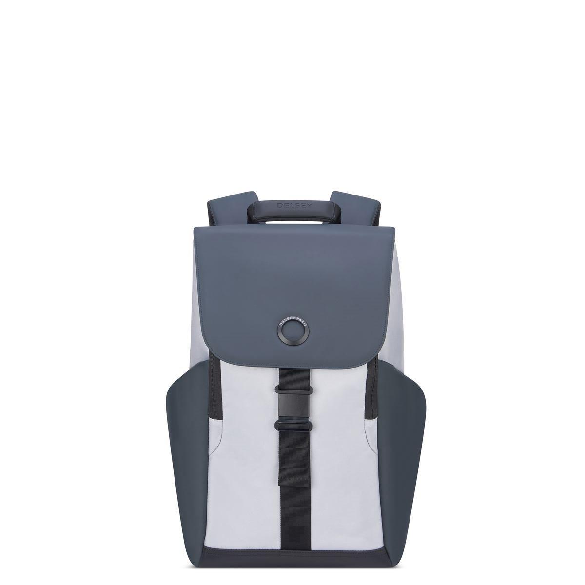 Delsey Σακίδιο πλάτης με θέση PC 15,6'' 45,5x31,5x14,5cm σειρά Securflap Silver