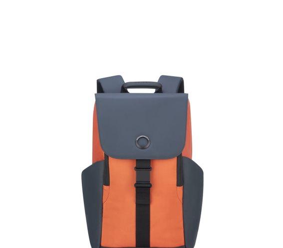 Delsey Σακίδιο πλάτης με θέση PC 15,6'' 45,5x31,5x14,5cm σειρά Securflap Orange