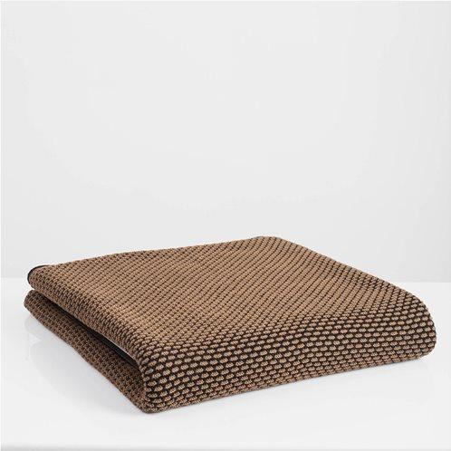 White Fabric Πλεκτή Κουβέρτα - Ριχτάρι Καναπέ Parker Καφέ