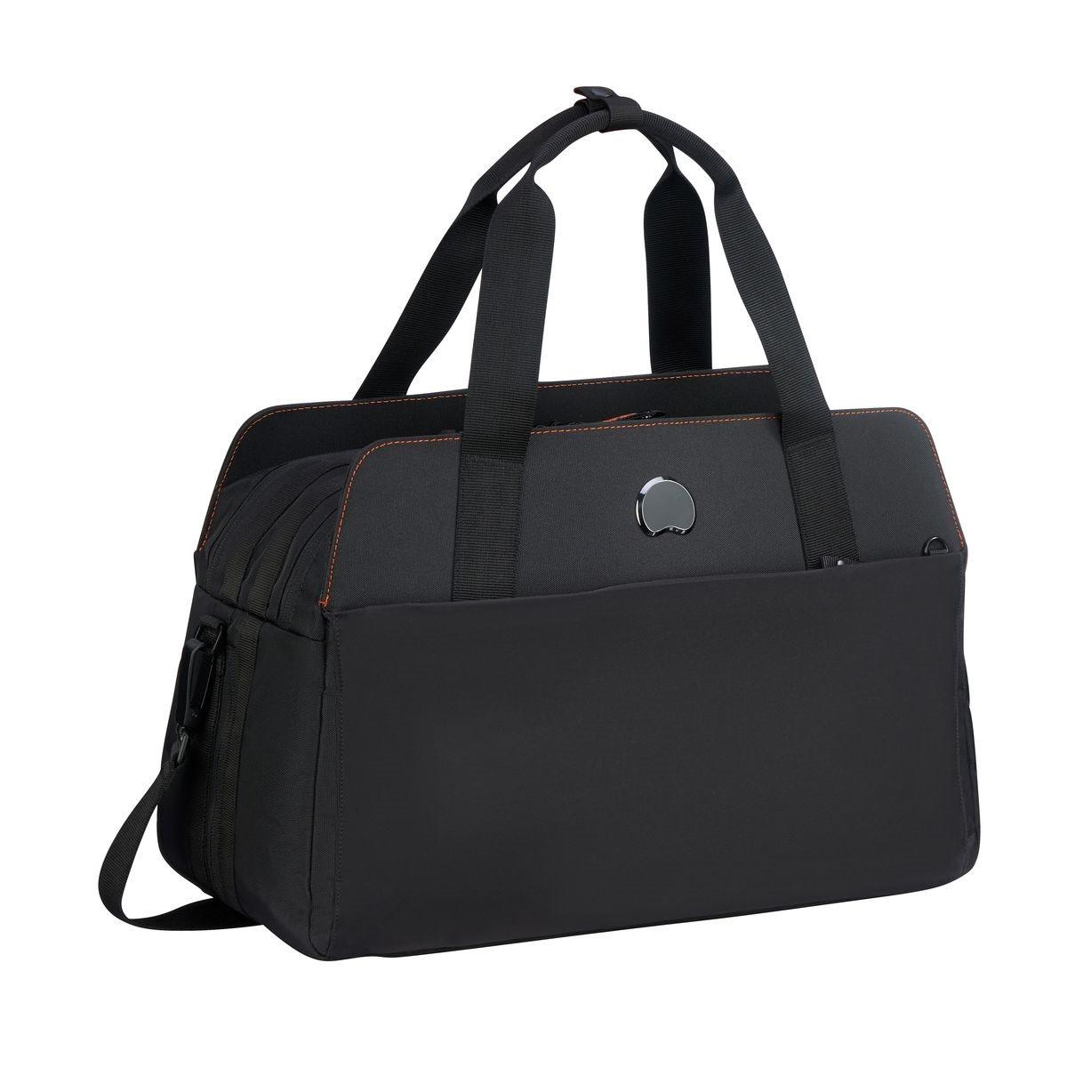 Delsey Τσάντα ταξιδίου 29x46,5x20,5/24,5cm με θέση για PC 14'' σειρά Daily s Orange Black