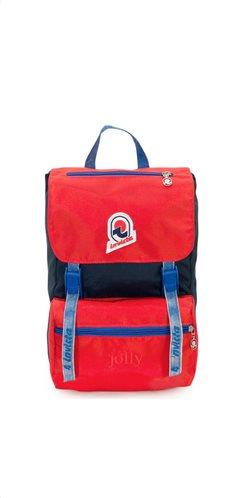 Invicta σακίδιο πλάτης 23x33x17cm σειρά Jolly Vintage Indigo/Red
