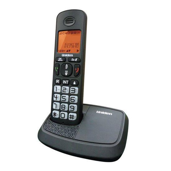 UNIDEN Τηλέφωνο Ασύρματο AT-4103 Με Μεγάλα Πλήκτρα Μαύρο