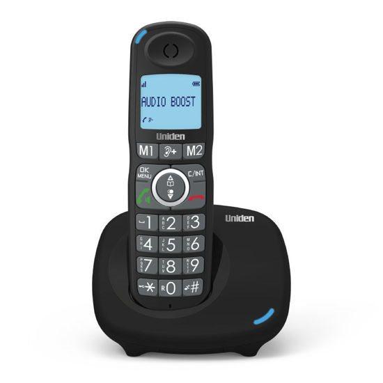 UNIDEN Τηλέφωνο Ασύρματο AT-4104 Με Μεγάλα Πλήκτρα Μαύρο