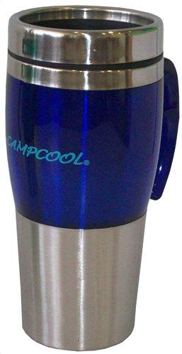 Campcool Κούπα Inox Χρωματιστή 0,45lt Ασημί Μπλέ