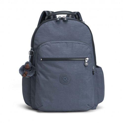 Kipling σακίδιο πλάτης με θήκη για laptop 44x35x22cm σειρά Seoul GO TRUE JEANS